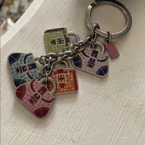 Coach purse keychain